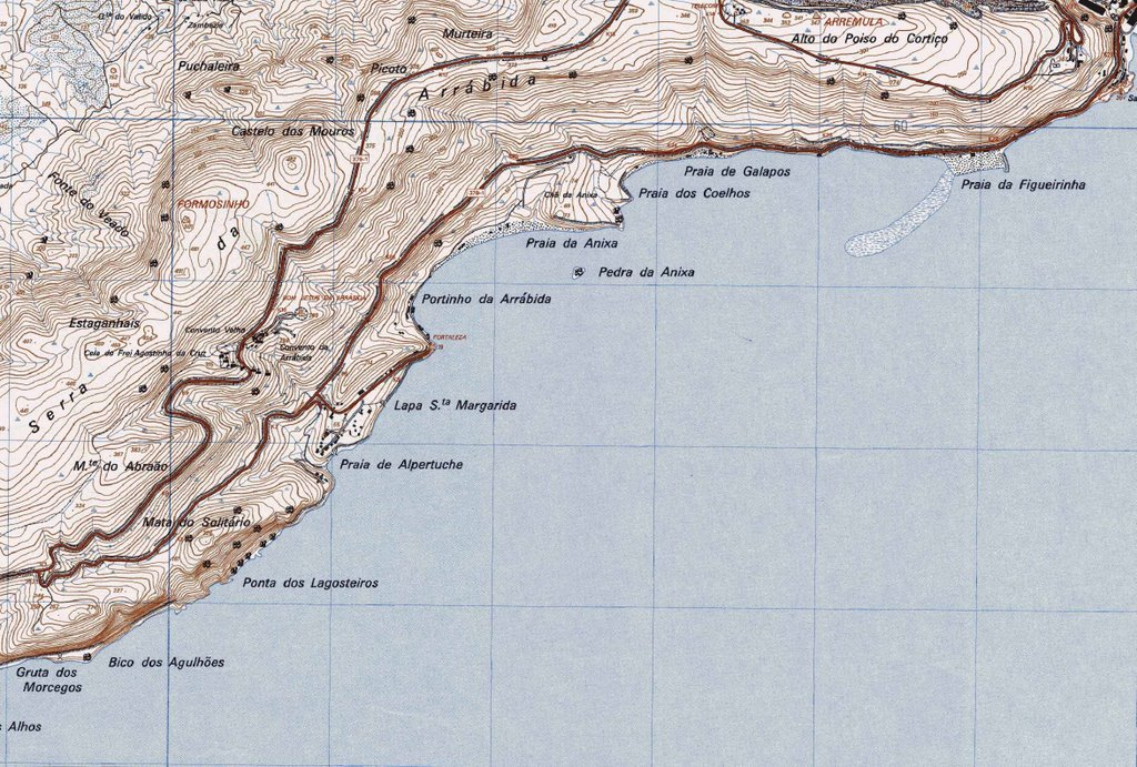 arrábida mapa Mapa topográfico | GEOGRAPHICAE arrábida mapa
