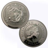 [1 Ounce Perth Mint Lunar Series Silver Dragon]