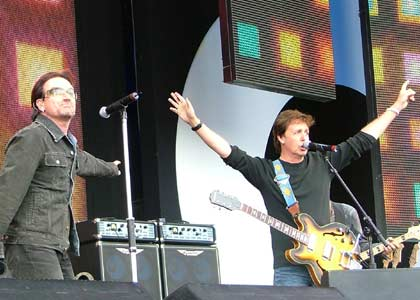 U2′s four-song set from Live 8 | Fuel/Friends Music Blog