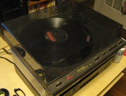 Turntable used for ripping vinyl records