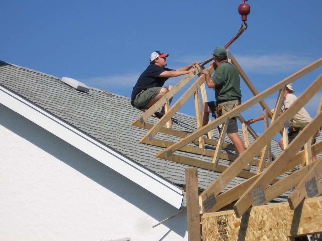 Mcintyre House Addition Roof Trusses Up