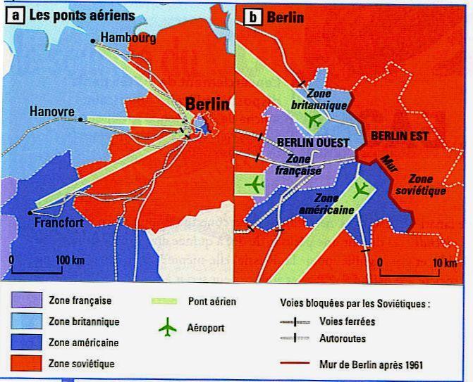 Carte Allemagne Apres Guerre.L Allemagne Dans La Guerre Froide Tes Histoire Geographie