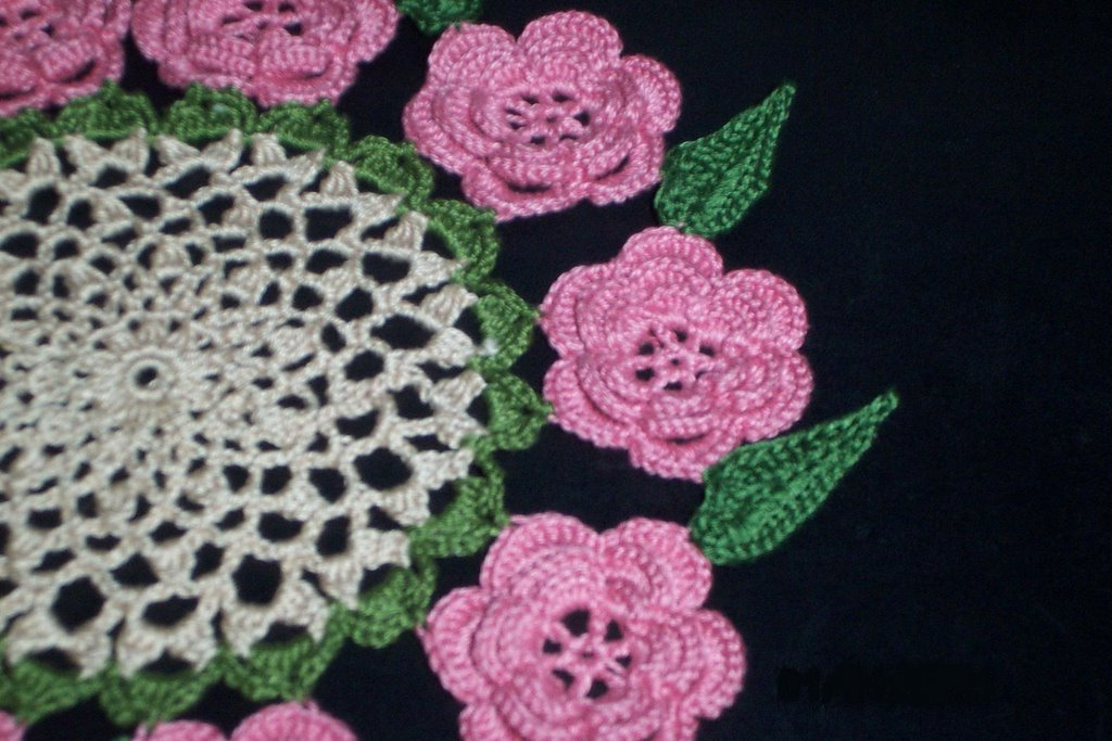 Crochet And Other Stuff Rose Doily My Valentine Doily