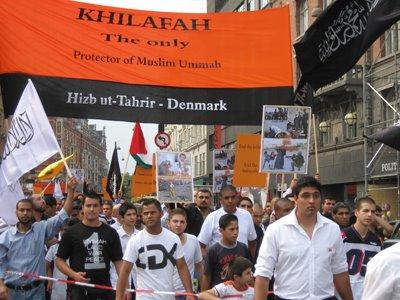Islam in Europe: Copenhagen: Hizb ut-Tahrir protest