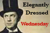 Elegantly Dressed Wednesday button