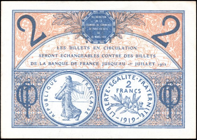 Blog philat lie billets de necessit semeuse for Chambre de commerce internationale paris arbitrage