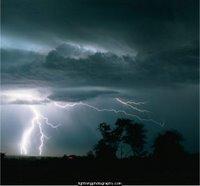 Fotograf�a de un rayos de tormenta