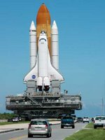 Atlantis being carried to safety today