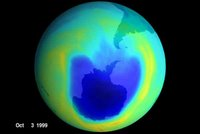 Ozone hole in October 1999
