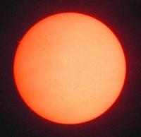 The sun in hydrogen-alpha