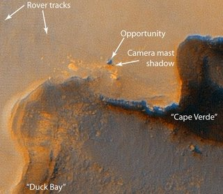 Close-up of Opportunity
