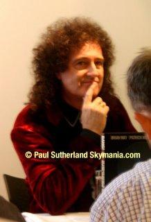 Brian May looks pensive © Paul Sutherland
