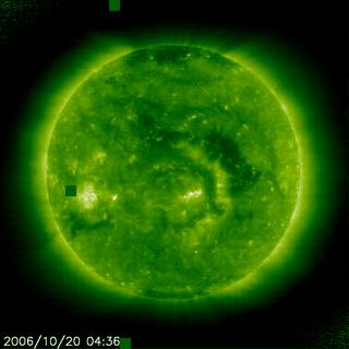 Satellite image of the Sun