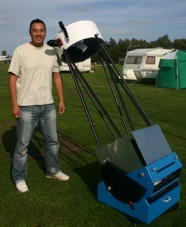 Gain with his 18-inch Dobsonian