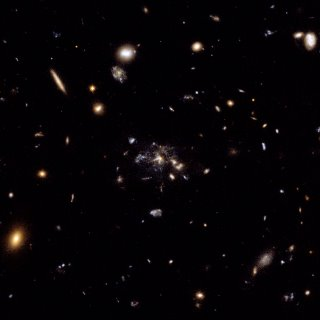 Hubble image of the field of galaxies