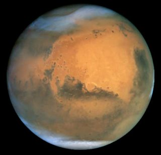 Hubble view of Mars