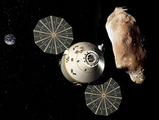 Orion at an asteroid