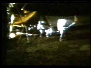 Alan Shepard makes a swing