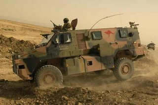 An Australian 'Bushmaster' Infantry Mobility Vehicle