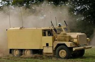 The new Cougar being put though its paces on Salisbury Plain