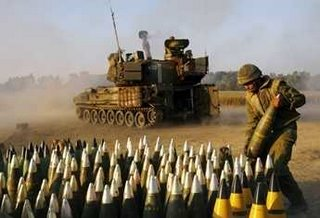 Israeli artillery - 155mm shells.