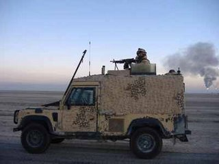The Snatch Land Rover - essential for its 'size and mobility' - now supplemented by the 6x6 Cougar