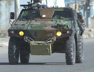 A French VBL armoured patrol vehicle in Afghanistan