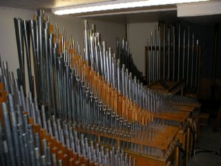 Organ pipes, of the type at the centre of the controversy - these are not an 'electrical installation'