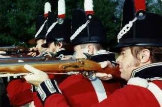 Red coats and muskets - left to the military establishment, one somethimes thinks, these would still be frontline equipment