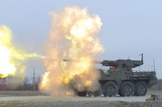 The Stryker MGS - recommended for cancellation by the Canadians