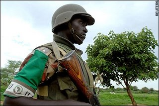 A study in uselessness - an African Union soldier on patrol