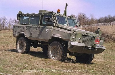 The Alvis 8 in Bosnia - claimed by Drayson to be an RG-31