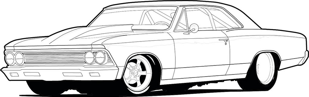 66 Chevelle Drawing Allowistic Artist
