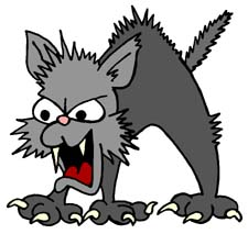 angry cat cartoon - photo #6