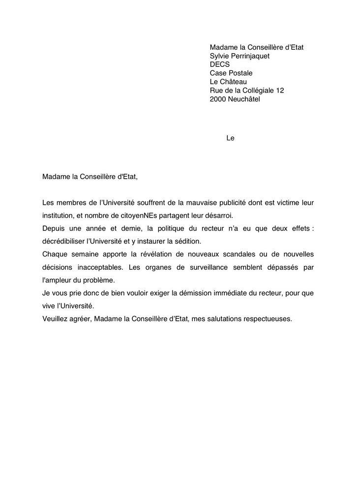 lettre de démission universitaire Alma MaLter   L'autre Université: mai 2006 lettre de démission universitaire