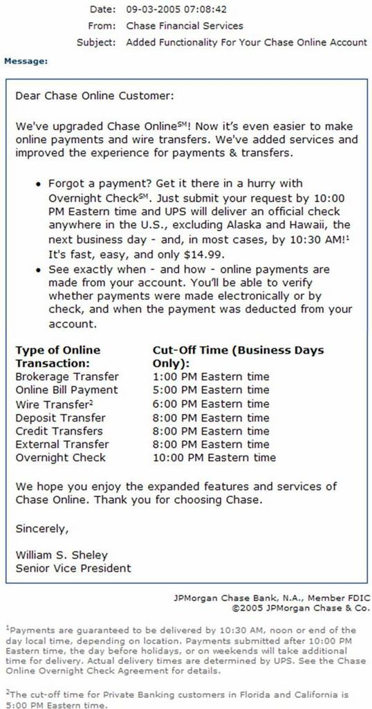 TheCanes: Chase Online Banking Downgrade.