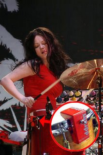 music thing is meg white playing electronic drums. Black Bedroom Furniture Sets. Home Design Ideas