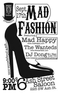 Tonight- the 17th - Mad Happy, The Wanteds, Venom, and Dong