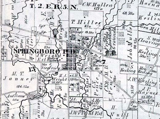 Springboro Ohio Map.Quaker Genealogy In Southwest Ohio Miami Valley Institute A