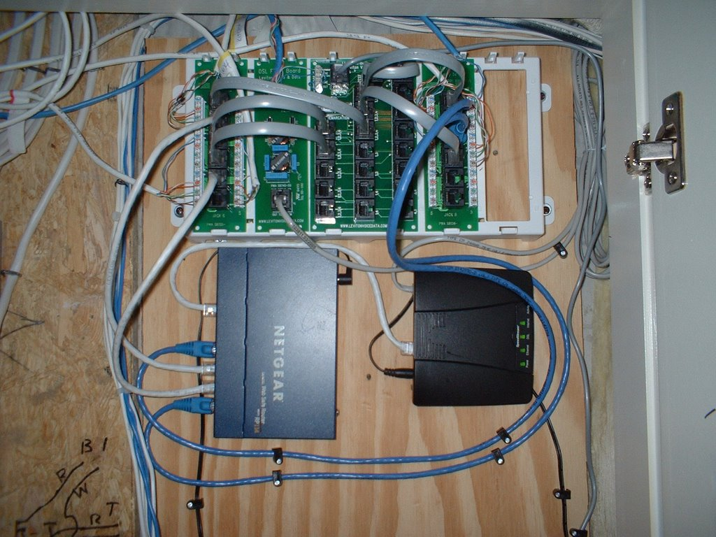 Whole House Structured Wiring Networking Setups Cabinets Home Wired Networks Routers And Switches Da1054