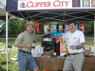 r to l: Tom Cizauskas, Territory Manager, Clipper City Brewing; Hugh Sisson, General Partner and founder, Clipper City Brewing