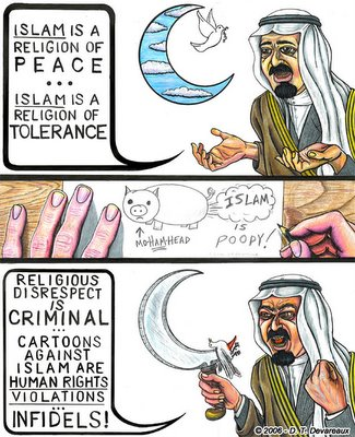 frauen männer islam karikatur