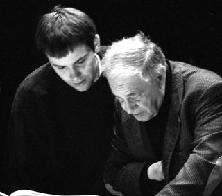 Alexis Descharmes with Pierre Boulez