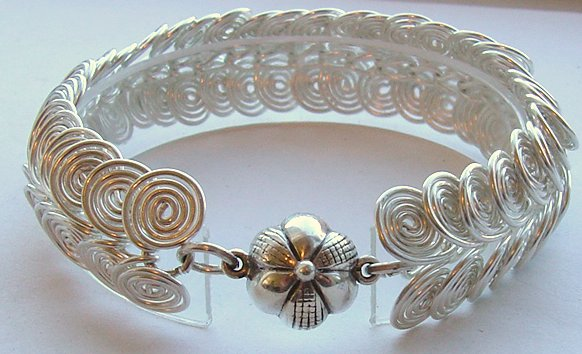Marie Cristine Jewelry Sterling Silver Egyptian Coil Bracelet