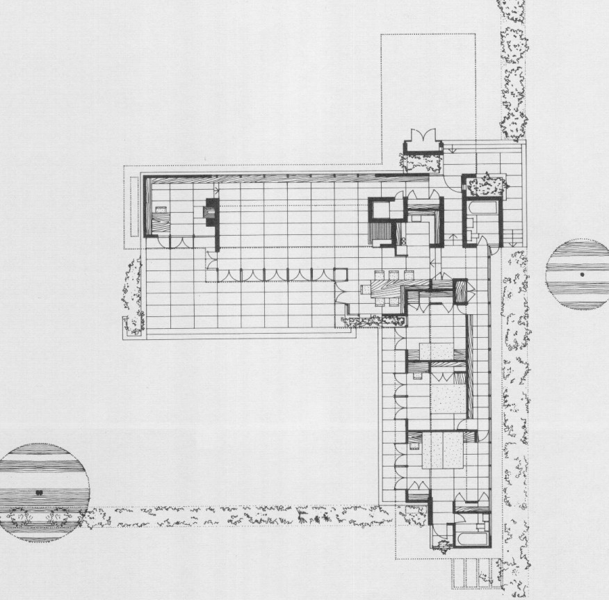 Rosenbaum Floor Plan Frank Lloyd Wright