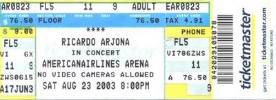 Boleto De Concierto De Arjona En El American Airlines Arena