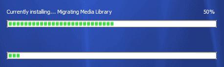 Screenshot of Windows Media Player 11 setup UI