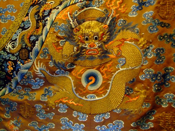 bb2405f3bf1 The other is a blue gauze dragon robe made for a young man of the nobility