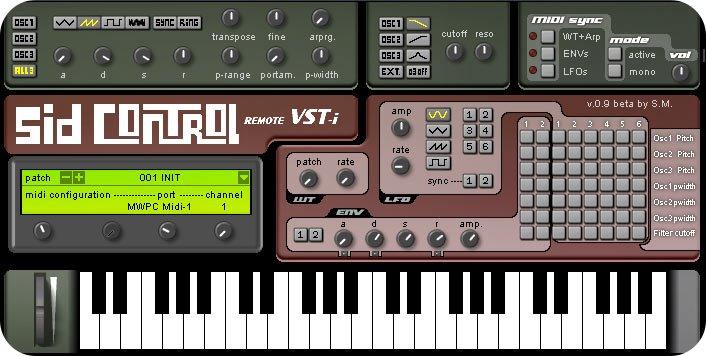 C64Music!: SIDControl 0 91b - VST Plugin
