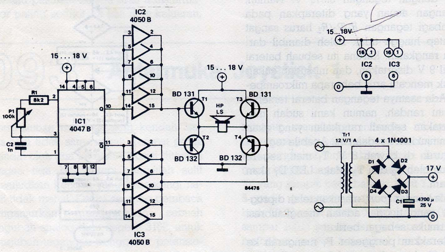 Video Amplifier Circuit Based On Lh0032 Elektronika 2006 So It Is The Pest Repeller Schematic Ic Cmos 4047 Operate As Low Oscillator Which Frequency Can Adjust Bettwen 5 Khz Until 30